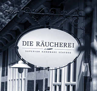 Die Räucherei sign
